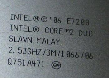 Intel E7200 45nm dualcore met M0 stepping