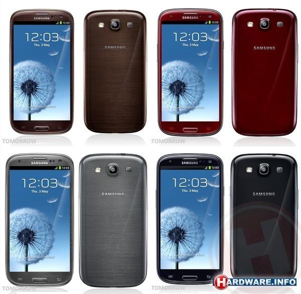 Nieuwe kleuren Samsung Galaxy S III nu in Nederland verkrijgbaar