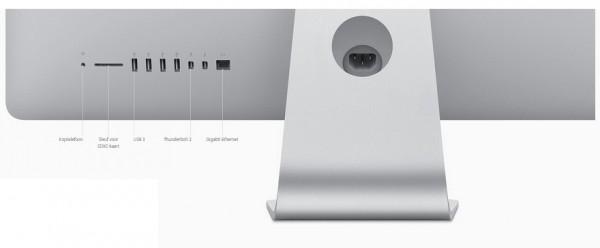 Aansluitmogelijkheden nieuwe iMac oktober 2015