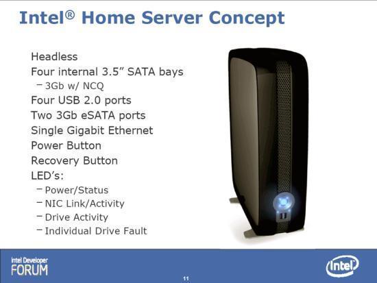 Intel Home-Server concept