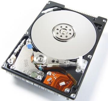 Een 100GB laptopschijfje zonder deksel