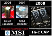 Nieuwe generatie condensators op MSI's moederbord
