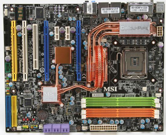 MSI P7N Diamond met vier PCI-E 16x slots