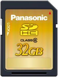 De nieuwe 32 GB SDHC kaart van Panasonic