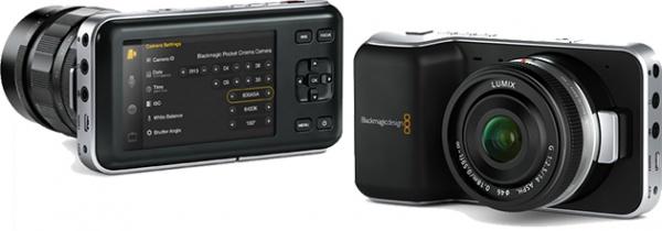 Achter en voorkant Compact Cinema Camera
