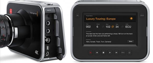 Voor- en achterzijde van de Blackmagic Production Camera 4K