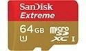 Snelle 64 GB microSDXC-geheugenkaart bij SanDisk