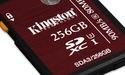 128GB en 256GB UHS-I (U3)-geheugenkaarten van Kingston