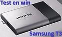 Test en win een van drie Samsung T3 externe SSD's!