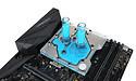 EK-waterkoelblok voor Maximus IX Hero koelt CPU en VRM's