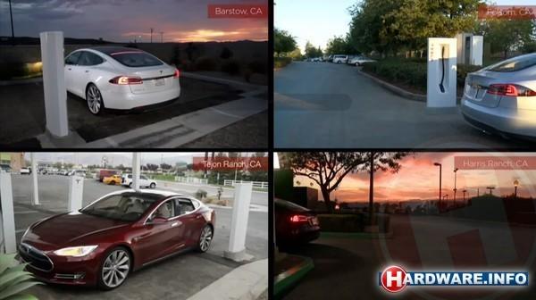 Tesla bouwt Supercharger laadstations in de VS, later mogelijk ook in Nederland.