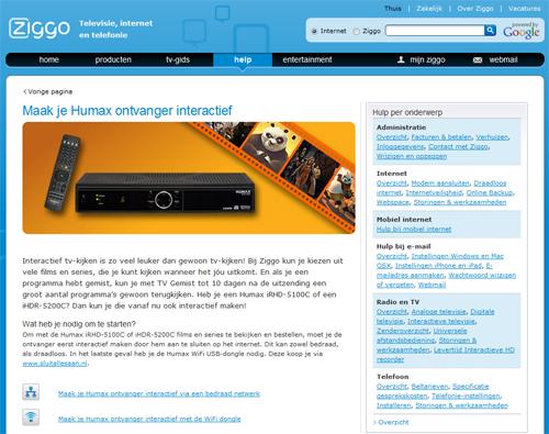 Ziggo maakt humax ontvangers interactief - Het upgraden van m ...