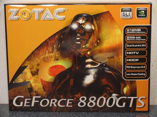 Nieuwe 8800GTS 512MB van Zotac