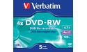 Verbatim DVD-RW 4x 5pk Jewel case