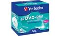 Verbatim DVD-RW 6x 5pk Jewel case