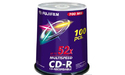 Fujifilm CD-R 52x 100pk Printable Spindle