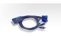 Aten 2-Port USB VGA/Audio Cable KVM Switch (1.8m)