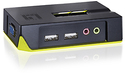 LevelOne 2-Port USB KVM Switch with Audio