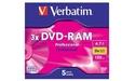 Verbatim DVD-RAM 3x 5pk T2