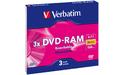 Verbatim DVD-RAM 3x 2pk Slim case