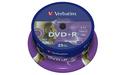 Verbatim DVD+R 16x 25pk Lightscribe Spindle