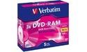 Verbatim DVD-RAM 3x 5pk Jewel case
