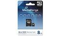 MediaRange MicroSDHC Class 10 8GB + Adapter