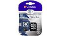 Verbatim Pro MicroSDHC UHS-I 16GB + Adapter