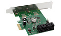 InLine 4-Port SATA PCIe x1