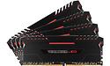 Corsair Vengeance Black/Red LED 32GB DDR4-2666 CL16 quad kit