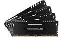 Corsair Vengeance Black-White LED 64GB DDR4-2666 CL16 quad kit