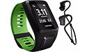TomTom Runner 3 Cardio + Music + Headphone Black/Green L