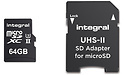 Integral MicroSDXC V90 UHS-II 64GB + Adapter