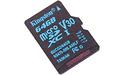 Kingston Canvas Go MicroSDXC UHS-I U3 64GB + Adapter
