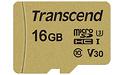 Transcend MicroSDHC UHS-I U3 16GB + Adapter Gold