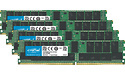 Crucial 128GB DDR4-2666 CL19 ECC Registered quad kit (CT4K32G4RFD4266)