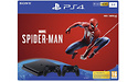 Sony PlayStation 4 Slim 1TB Black + 2 Dual Shock Controllers + Spider-Man