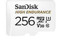 Sandisk High Endurance MicroSDXC UHS-I U3 256GB + Adapter
