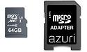 Azuri MicroSDXC UHS-I 64GB + Adapter