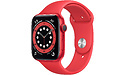 Apple Watch 6 Series 44mm Red Sport Band Red