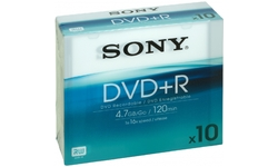 Sony DVD+R 16x 10pk Slim case