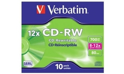 Verbatim CD-RW 12x 10pk Jewel case