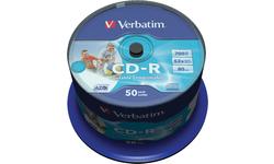 Verbatim CD-R 52x 50pk SuperAzo Printable Spindle