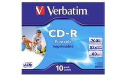 Verbatim CD-R 52x 10pk Printable Jewel case