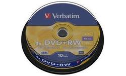 Verbatim DVD+RW 4x 10pk Spindle