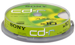 Sony CD-R 48x 10pk Spindle