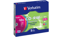 Verbatim CD-RW 12x 5pk Color Slim case