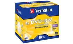 Verbatim DVD+RW 4x 10pk Jewel case