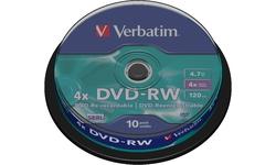 Verbatim DVD-RW 4x 10pk Spindle