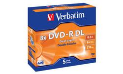 Verbatim DVD-R DL 8x 5pk Jewel case